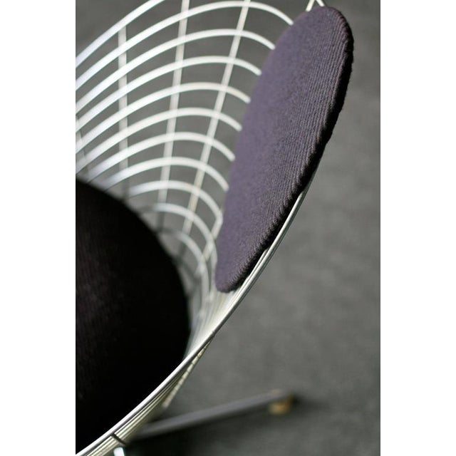 Traditional Wire Cone Lounge Chair by Verner Panton for Plus Ligne For Sale - Image 3 of 8