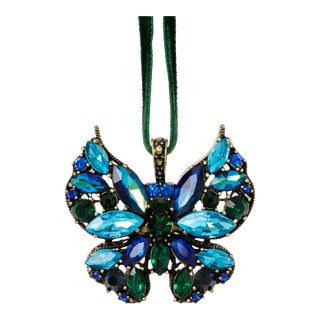 Mini Butterfly Ornament, Sapphire For Sale