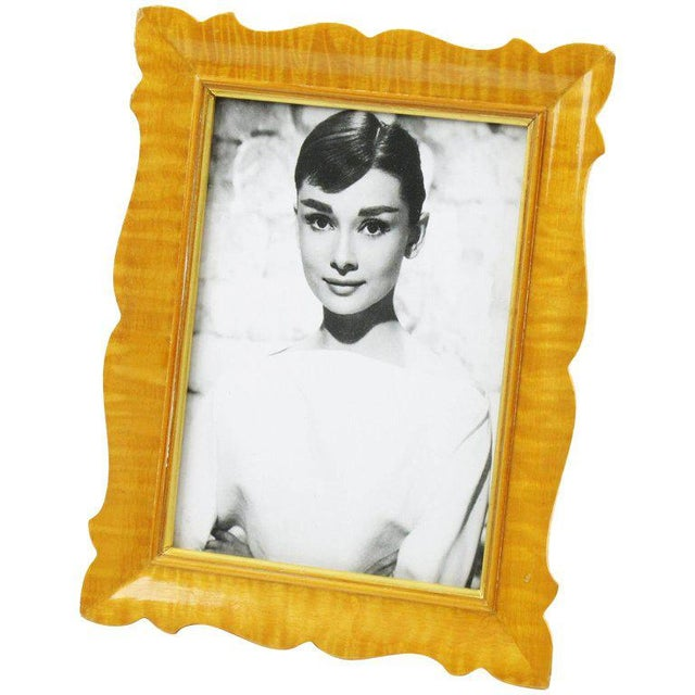 Gold Italian Sycamore Hollywood Regency Picture Photo Frame Signed For Sale - Image 8 of 8