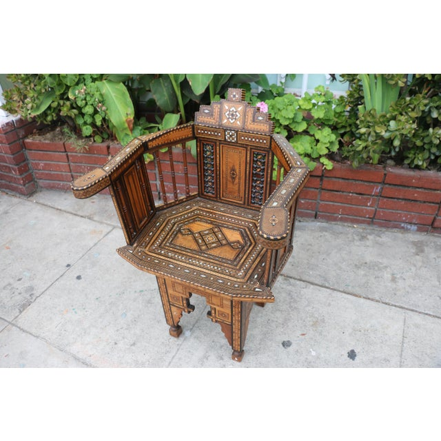 Moroccan 1920's Side Chair For Sale - Image 5 of 9