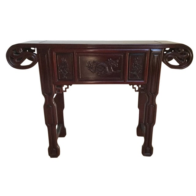 Solid Rosewood Console Table - Image 1 of 6