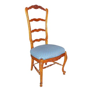 Country French Ladderback Chair For Sale