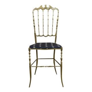 1950s Chiavari Brass Ballroom Chair For Sale
