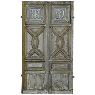 """1852"" French Oak Wood Main Entrance Door For Sale"