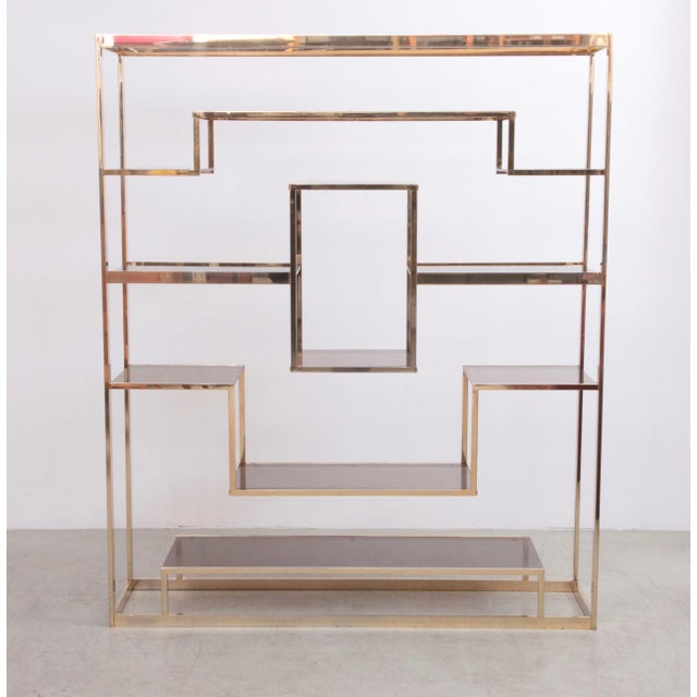 Brass Large Romeo Rega Brass Shelf or Etagere For Sale - Image 7 of 7