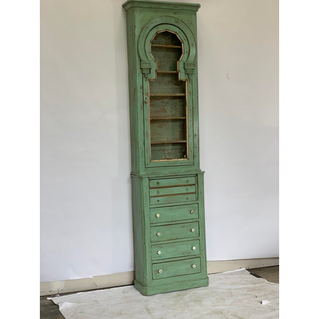 Up for sale is this antique Spanish pharmacy cabinet, circa 1860. Made from walnut. 81x23x11