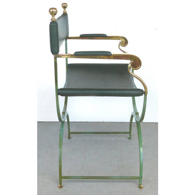 Valenti Pair of Brass Director's Chairs by Valenti, Spain For Sale - Image 4 of 11