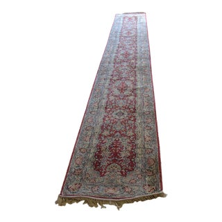 Oriental Hand Made Silk Runner Rug - 2′7″ × 18′ For Sale