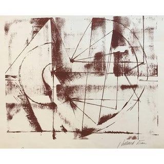 Hilliard Dean Geometrics Abstract Lithograph For Sale
