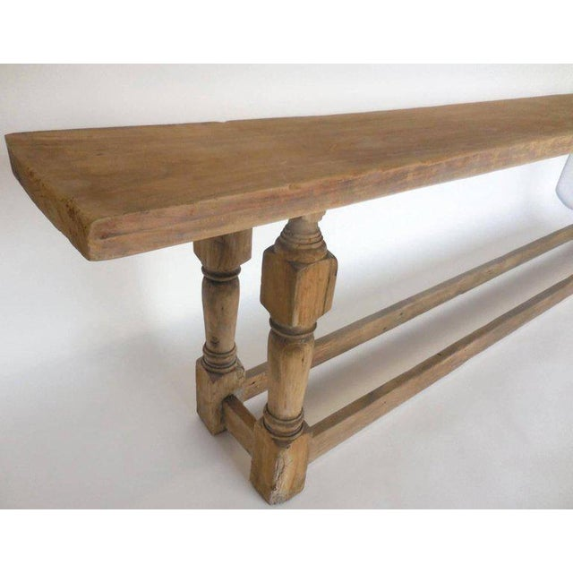 Rustic Large Scale, but Narrow Console For Sale - Image 3 of 10