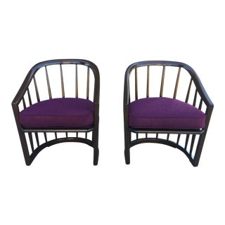 Mid Century Modern Barrel Back Chairs -- a Pair
