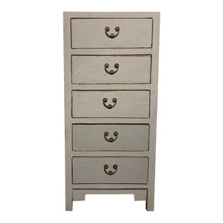 Contemporary Grey 5 Drawers Dresser For Sale