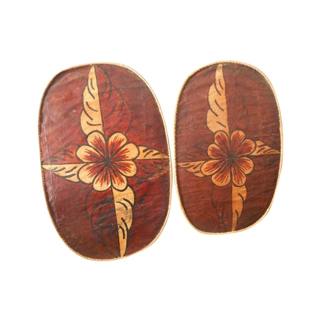 Floral Moroccan Wall Hangings - A Pair - Image 1 of 6