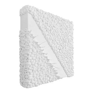 Contemporary White Geo Wall Sculpture For Sale