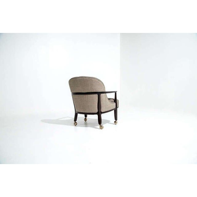 Mid-Century Modern Edward Wormley for Dunbar Janus Armchairs, Set of Four, 1950s For Sale - Image 3 of 7