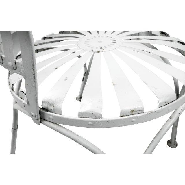 Francois Carre Vintage Fan Back Patio Armchair - Image 7 of 11