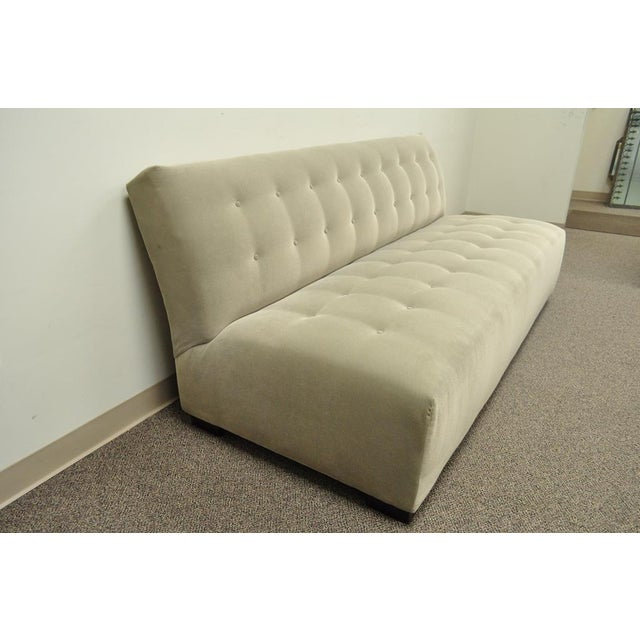 Modern Crate & Barrel Mitchell Gold Modern Plus Armless Sofa Loveseat Couch 336-003t-20 For Sale - Image 3 of 12
