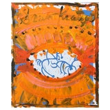 Image of Framed Picasso Poster Oil Painting by Sean Kratzert 'Red Eye' For Sale