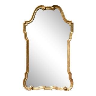 Vintage Hollywood Regency Italian Gilt Wood Mirror For Sale