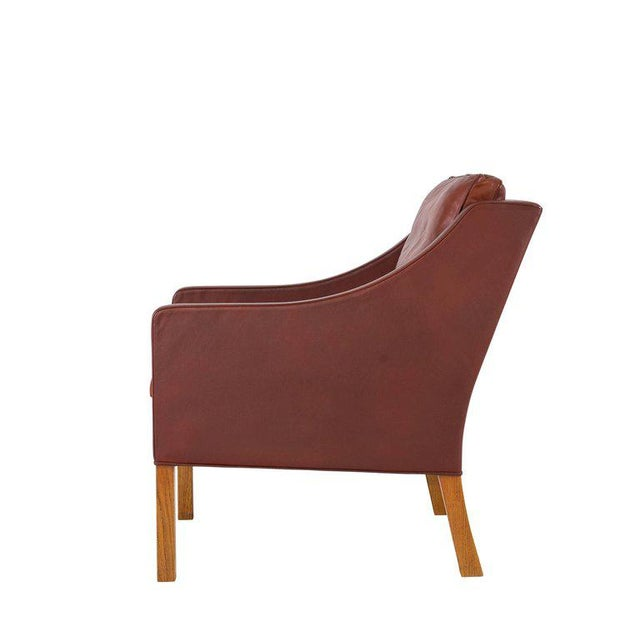 1960s Børge Mogensen Model #2207 Leather Lounge Chair For Sale - Image 5 of 10