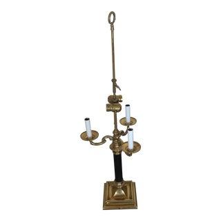 Baldwin Brass & Black 3-Candle Bouillotte Lamp Base