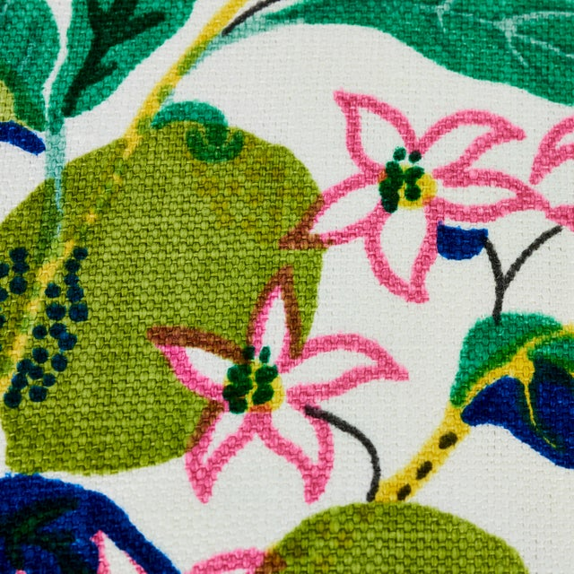 Early 21st Century Schumacher Citrus Garden Pillow in Lime For Sale - Image 5 of 8