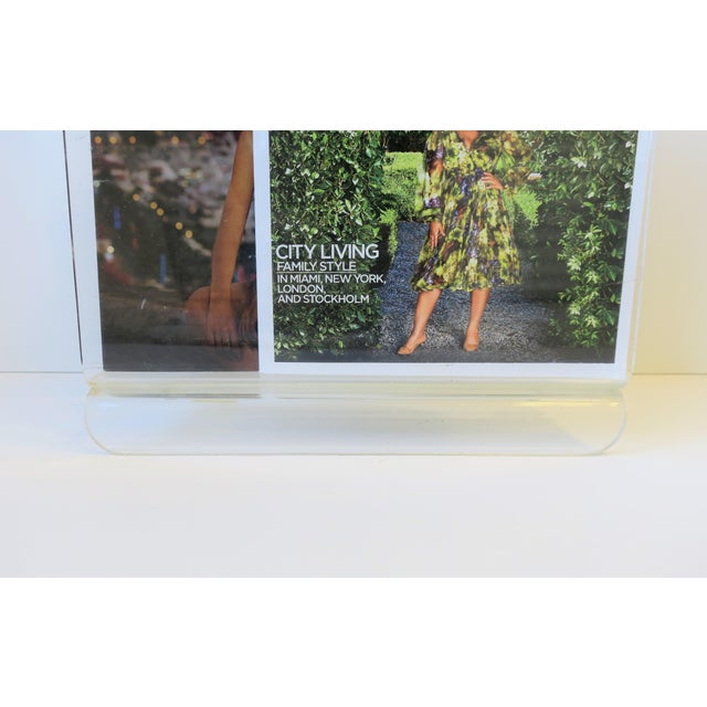 Modern Clear Acrylic Magazine Holder, Circa 1976 For Sale - Image 3 of 13