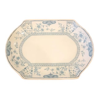 Ridgway Chinoiserie Blue and White Platter For Sale