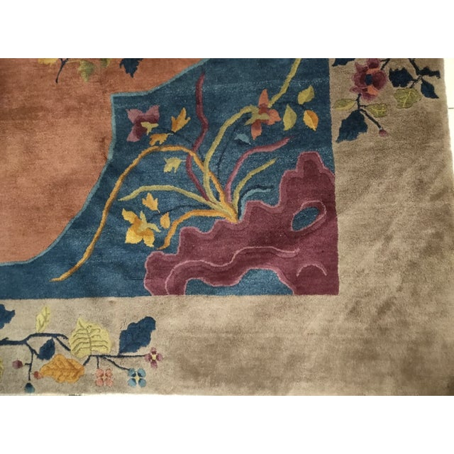 """Art Deco Antique Chinese Art Deco 8'2"""" X 9'9"""" For Sale - Image 3 of 6"""