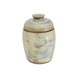David White Mid Century Art Pottery Jar For Sale