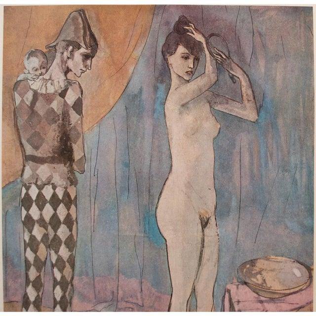 Pablo Picasso 1950s Picasso, Original Period Blue Harlequin Lithographs - a Pair For Sale - Image 4 of 13