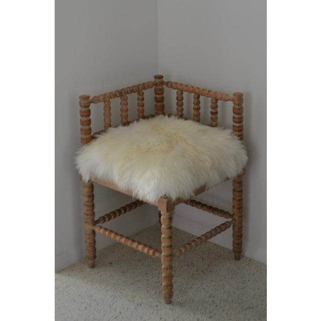 Turned Wood Corner Chair For Sale - Image 9 of 13