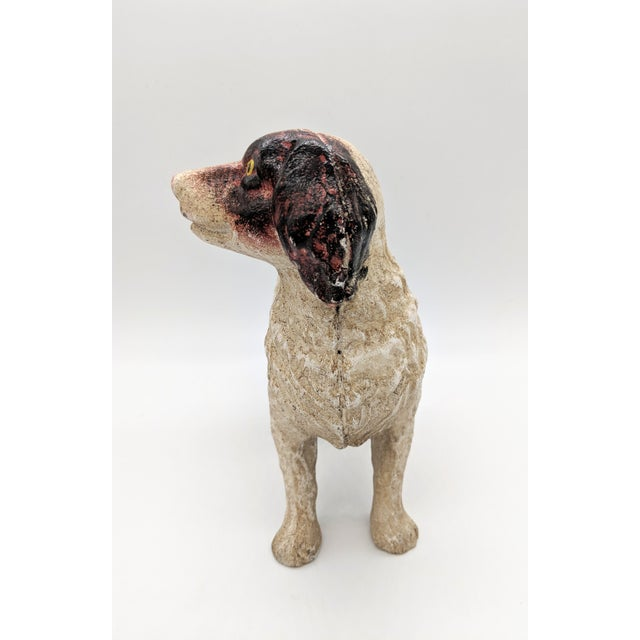 Mid 20th Century 20th Century Figurative Cast Iron Red and White English Springer Spaniel Doorstop For Sale - Image 5 of 9