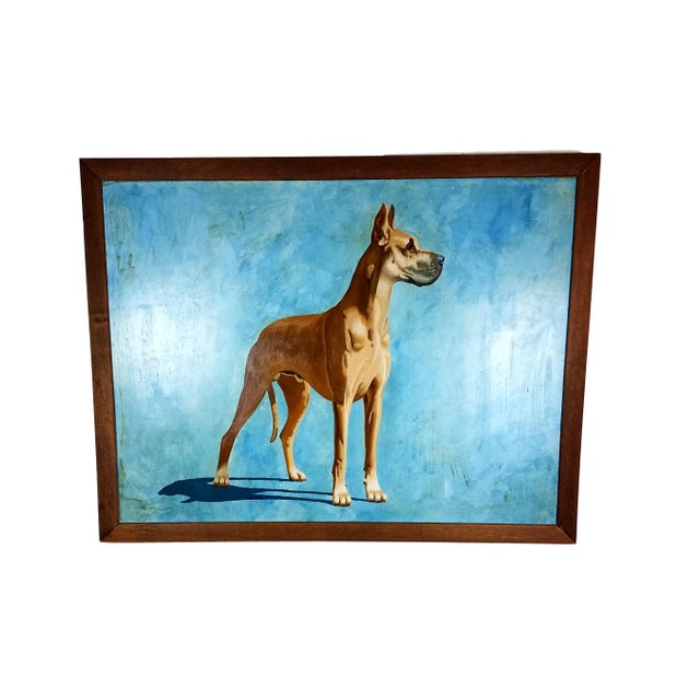 Great Dane Acrylic Painting - Image 1 of 5