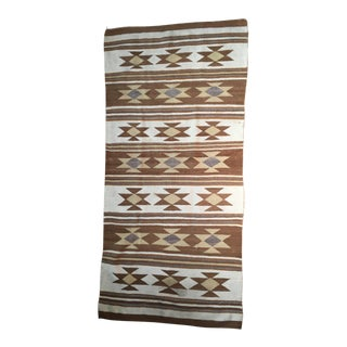1920s Antique American Indian Classically Patterned Eye-Dazzler Rug - 5′4″ × 2′6″