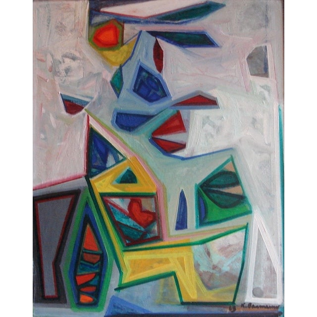 Karl Baumann Abstract 1968 Painting - Image 1 of 4