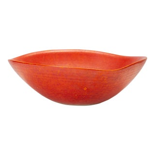 Red Glazed Studio Pottery Bowl For Sale