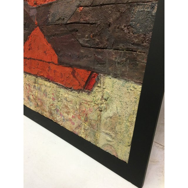 Oversize Textured Abstract Painting by Marti - Image 3 of 5