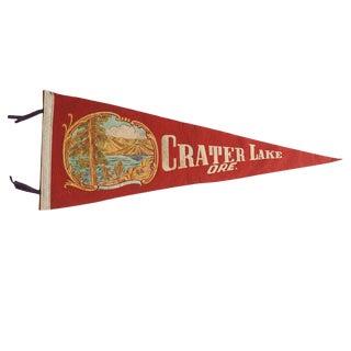 Vintage Crater Lake Ore. Felt Flag Pennant