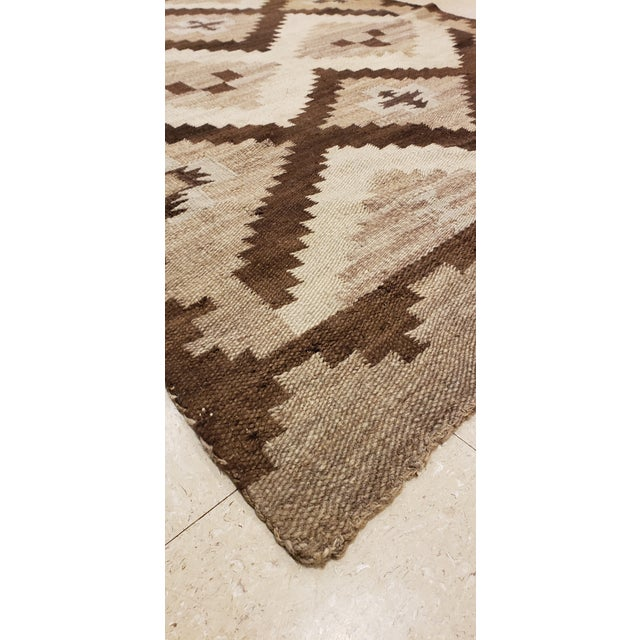 American Early 20th Century Antique Navajo Handmade Wool Rug- 5′ × 6′4″ For Sale - Image 3 of 9