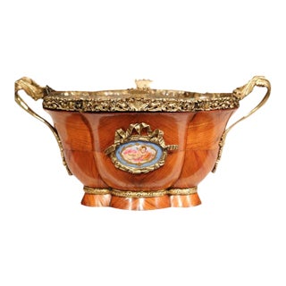 Early 19th Century French Tulipwood & Bronze Jardiniere For Sale