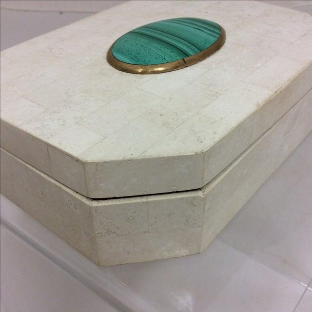 Maitland Smith Tessellated Marble & Malachite Box - Image 8 of 11