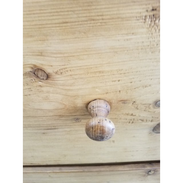 Antique Pine Food Cupboard With Key For Sale - Image 9 of 13