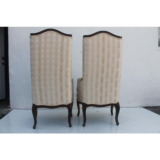 French Provincial Carved Wood Arm Chairs - A Pair - Image 5 of 11