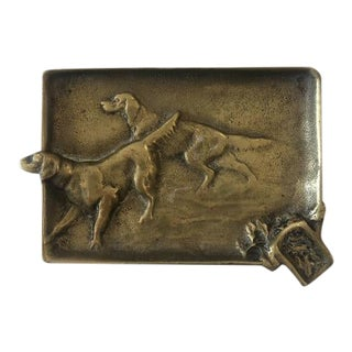 Vintage Hunting Dogs Ashtray For Sale