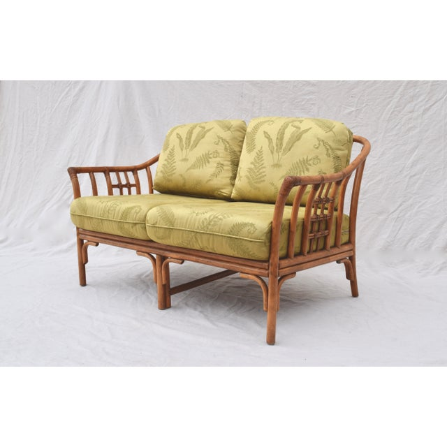 Ficks Reed Style Settee & Ottoman For Sale In Philadelphia - Image 6 of 13
