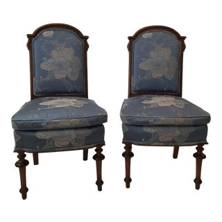 Victorian Style Parlor Chairs - a Pair