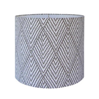 Tahitian Stitch Brown Drum Lamp Shade For Sale