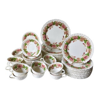 Wedgwood-12 Place-Settings-61 Pieces-'Wildbriar'Pattern For Sale