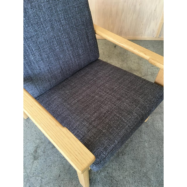 Gray Hans Wegner Oak Lounge Chairs - a Pair For Sale - Image 8 of 10